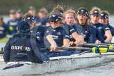 "The Boat Race season 2016 - Women's Boat Race Trial Eights (OUWBC, Oxford): ""Scylla"", cox-Antonia Stutter, stroke-Emma Lukasiewicz, 7-Lauren Kedar, 6-Joanne Jansen, 5-Anastasia Chitty, 4-Rebecca Te Water Naude, 3-Elettra Ardissino, 2-Merel Lefferts, bow-Issy Dodds. River Thames between Putney Bridge and Mortlake, London SW15,  United Kingdom, on 10 December 2015 at 12:37, image #328"