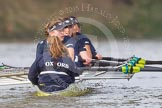 "The Boat Race season 2016 - Women's Boat Race Trial Eights (OUWBC, Oxford): ""Scylla"", cox-Antonia Stutter, stroke-Emma Lukasiewicz, 7-Lauren Kedar, 6-Joanne Jansen, 5-Anastasia Chitty, 4-Rebecca Te Water Naude, 3-Elettra Ardissino, 2-Merel Lefferts, bow-Issy Dodds. River Thames between Putney Bridge and Mortlake, London SW15,  United Kingdom, on 10 December 2015 at 12:38, image #348"