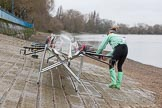 The Boat Race season 2016 - Women's Boat Race Fixture CUWBC vs OBUBC. River Thames between Putney Bridge and Mortlake, London SW15,  United Kingdom, on 31 January 2016 at 15:07, image #1