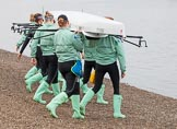 The Boat Race season 2016 - Women's Boat Race Fixture CUWBC vs OBUBC. River Thames between Putney Bridge and Mortlake, London SW15,  United Kingdom, on 31 January 2016 at 15:13, image #6