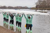 The Boat Race season 2016 - Women's Boat Race Fixture CUWBC vs OBUBC. River Thames between Putney Bridge and Mortlake, London SW15,  United Kingdom, on 31 January 2016 at 15:13, image #7