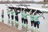 The Boat Race season 2016 - Women's Boat Race Fixture CUWBC vs OBUBC. River Thames between Putney Bridge and Mortlake, London SW15,  United Kingdom, on 31 January 2016 at 15:13, image #8