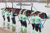 The Boat Race season 2016 - Women's Boat Race Fixture CUWBC vs OBUBC. River Thames between Putney Bridge and Mortlake, London SW15,  United Kingdom, on 31 January 2016 at 15:13, image #9