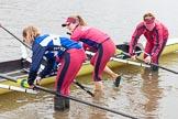 The Boat Race season 2016 - Women's Boat Race Fixture CUWBC vs OBUBC. River Thames between Putney Bridge and Mortlake, London SW15,  United Kingdom, on 31 January 2016 at 15:18, image #19