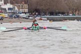 The Boat Race season 2016 - Women's Boat Race Fixture CUWBC vs OBUBC. River Thames between Putney Bridge and Mortlake, London SW15,  United Kingdom, on 31 January 2016 at 15:58, image #50