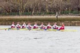 The Boat Race season 2016 - Women's Boat Race Fixture CUWBC vs OBUBC. River Thames between Putney Bridge and Mortlake, London SW15,  United Kingdom, on 31 January 2016 at 15:59, image #53