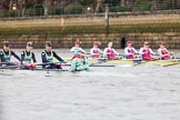 The Boat Race season 2016 - Women's Boat Race Fixture CUWBC vs OBUBC. River Thames between Putney Bridge and Mortlake, London SW15,  United Kingdom, on 31 January 2016 at 16:00, image #57