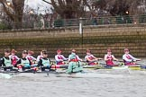 The Boat Race season 2016 - Women's Boat Race Fixture CUWBC vs OBUBC. River Thames between Putney Bridge and Mortlake, London SW15,  United Kingdom, on 31 January 2016 at 16:00, image #59