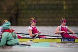 The Boat Race season 2016 - Women's Boat Race Fixture CUWBC vs OBUBC. River Thames between Putney Bridge and Mortlake, London SW15,  United Kingdom, on 31 January 2016 at 16:02, image #78