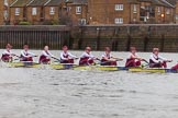 The Boat Race season 2016 - Women's Boat Race Fixture CUWBC vs OBUBC. River Thames between Putney Bridge and Mortlake, London SW15,  United Kingdom, on 31 January 2016 at 16:04, image #82