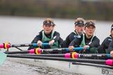 The Boat Race season 2016 - Women's Boat Race Fixture CUWBC vs OBUBC. River Thames between Putney Bridge and Mortlake, London SW15,  United Kingdom, on 31 January 2016 at 16:04, image #84