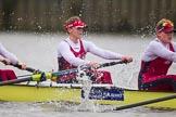 The Boat Race season 2016 - Women's Boat Race Fixture CUWBC vs OBUBC. River Thames between Putney Bridge and Mortlake, London SW15,  United Kingdom, on 31 January 2016 at 16:05, image #90