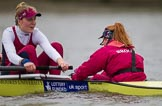 The Boat Race season 2016 - Women's Boat Race Fixture CUWBC vs OBUBC. River Thames between Putney Bridge and Mortlake, London SW15,  United Kingdom, on 31 January 2016 at 16:06, image #100