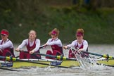 The Boat Race season 2016 - Women's Boat Race Fixture CUWBC vs OBUBC. River Thames between Putney Bridge and Mortlake, London SW15,  United Kingdom, on 31 January 2016 at 16:19, image #119