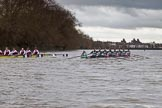 The Boat Race season 2016 - Women's Boat Race Fixture CUWBC vs OBUBC. River Thames between Putney Bridge and Mortlake, London SW15,  United Kingdom, on 31 January 2016 at 16:20, image #123
