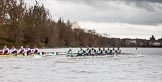 The Boat Race season 2016 - Women's Boat Race Fixture CUWBC vs OBUBC. River Thames between Putney Bridge and Mortlake, London SW15,  United Kingdom, on 31 January 2016 at 16:20, image #124