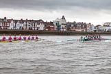 The Boat Race season 2016 - Women's Boat Race Fixture CUWBC vs OBUBC. River Thames between Putney Bridge and Mortlake, London SW15,  United Kingdom, on 31 January 2016 at 16:23, image #135