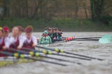 The Boat Race season 2016 - Women's Boat Race Fixture CUWBC vs OBUBC. River Thames between Putney Bridge and Mortlake, London SW15,  United Kingdom, on 31 January 2016 at 16:27, image #155