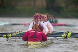The Boat Race season 2016 - Women's Boat Race Fixture CUWBC vs OBUBC. River Thames between Putney Bridge and Mortlake, London SW15,  United Kingdom, on 31 January 2016 at 16:27, image #156
