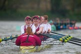The Boat Race season 2016 - Women's Boat Race Fixture CUWBC vs OBUBC. River Thames between Putney Bridge and Mortlake, London SW15,  United Kingdom, on 31 January 2016 at 16:27, image #157