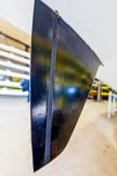 The Boat Race season 2016 - OUWBC training Wallingford: The carbon fibre rudder of a modern boat. Only the narrow part see here in front does move.. River Thames, Wallingford, Oxfordshire,  on 29 February 2016 at 14:11, image #1
