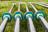 The Boat Race season 2016 - OUWBC training Wallingford: Oars ready for a day's training outside Oxford's Fleming Boat House in Wallingford. River Thames, Wallingford, Oxfordshire,  on 29 February 2016 at 14:39, image #14