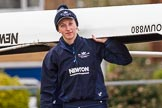 The Boat Race season 2016 - OUWBC training Wallingford: Georgie Daniell, bow in Osiris, the OUWBC reserve boat. River Thames, Wallingford, Oxfordshire,  on 29 February 2016 at 15:15, image #24