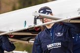 The Boat Race season 2016 - OUWBC training Wallingford: Chloe Farrar (?) carrying Osiris, the OUWBC reserve boat. River Thames, Wallingford, Oxfordshire,  on 29 February 2016 at 15:15, image #25