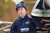 The Boat Race season 2016 - OUWBC training Wallingford: Georgie Daniell, bow in Osiris, the OUWBC reserve boat. River Thames, Wallingford, Oxfordshire,  on 29 February 2016 at 15:15, image #26