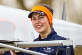 The Boat Race season 2016 - OUWBC training Wallingford: British/South African Rebecca Te Water Naude, 6 seat in Osiris, the OUWBC reserve boat. River Thames, Wallingford, Oxfordshire,  on 29 February 2016 at 15:15, image #28