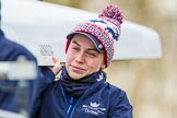 The Boat Race season 2016 - OUWBC training Wallingford: Flo Pickles, stroke in Osiris, the OUWBC reserve boat. River Thames, Wallingford, Oxfordshire,  on 29 February 2016 at 15:15, image #30