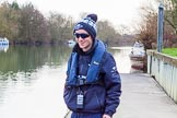 The Boat Race season 2016 - OUWBC training Wallingford: OUWBC cox Will Smith before taking his seat in Osiris, the reserve boat.. River Thames, Wallingford, Oxfordshire,  on 29 February 2016 at 15:18, image #38