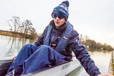 The Boat Race season 2016 - OUWBC training Wallingford: OUWBC cox Will Smith in Osiris, the reserve boat.. River Thames, Wallingford, Oxfordshire,  on 29 February 2016 at 15:20, image #42