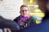 The Boat Race season 2016 - OUWBC training Wallingford: Chistine Wilson, OUWBC head coach, during a pre-traing briefing. River Thames, Wallingford, Oxfordshire,  on 29 February 2016 at 15:27, image #46
