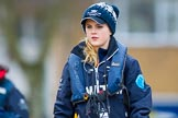 The Boat Race season 2016 - OUWBC training Wallingford: Antonia Stutter, cox in the OUWBC Blue Boat. River Thames, Wallingford, Oxfordshire,  on 29 February 2016 at 15:31, image #48