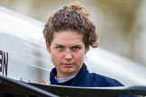 The Boat Race season 2016 - OUWBC training Wallingford: Dutch rower Joanne Jansen, 3 seat in the OUWBC Blue Boat. River Thames, Wallingford, Oxfordshire,  on 29 February 2016 at 15:31, image #51