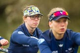 The Boat Race season 2016 - OUWBC training Wallingford: Ruth Siddorn, 4 seat in the OUWBC Blue Boat. River Thames, Wallingford, Oxfordshire,  on 29 February 2016 at 15:48, image #62