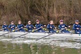 The Boat Race season 2016 - OUWBC training Wallingford: The OUWBC Blue Boat at the start of their training session. River Thames, Wallingford, Oxfordshire,  on 29 February 2016 at 15:53, image #71