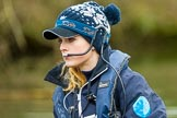 The Boat Race season 2016 - OUWBC training Wallingford: Antonia Stutter, cox in the OUWBC Blue Boat. River Thames, Wallingford, Oxfordshire,  on 29 February 2016 at 16:01, image #78
