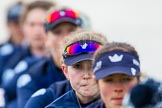 The Boat Race season 2016 - OUWBC training Wallingford: Maddy Badcott, OUWBC president and 7 seat in the Oxford Blue Boat. River Thames, Wallingford, Oxfordshire,  on 29 February 2016 at 16:14, image #92