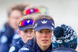 The Boat Race season 2016 - OUWBC training Wallingford: Lauren Kedar, stroke in the OUWBC Blue Boat. River Thames, Wallingford, Oxfordshire,  on 29 February 2016 at 16:15, image #95
