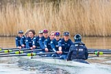 The Boat Race season 2016 - OUWBC training Wallingford. River Thames, Wallingford, Oxfordshire,  on 29 February 2016 at 16:17, image #98