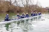 The Boat Race season 2016 - OUWBC training Wallingford. River Thames, Wallingford, Oxfordshire,  on 29 February 2016 at 16:19, image #99