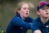 The Boat Race season 2016 - OUWBC training Wallingford: Anastasia Chitty, 6 seat in the OUWBC Blue Boat. River Thames, Wallingford, Oxfordshire,  on 29 February 2016 at 16:28, image #105