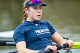 The Boat Race season 2016 - OUWBC training Wallingford: Maddy Badcott, OUWBC president and 7 seat in the Oxford Blue Boat. River Thames, Wallingford, Oxfordshire,  on 29 February 2016 at 16:28, image #110