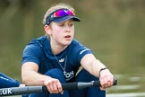 The Boat Race season 2016 - OUWBC training Wallingford: Maddy Badcott, OUWBC president and 7 seat in the Oxford Blue Boat. River Thames, Wallingford, Oxfordshire,  on 29 February 2016 at 16:31, image #114