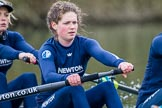 The Boat Race season 2016 - OUWBC training Wallingford: Dutch rower Joanne Jansen, 3 seat in the OUWBC Blue Boat. River Thames, Wallingford, Oxfordshire,  on 29 February 2016 at 16:31, image #115