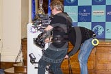 The Boat Race season 2016 - Crew Announcement and Weigh-In: THe BBC Sport Steadycam team filming the event. Westmister Hall, Westminster, London SW11,  United Kingdom, on 01 March 2016 at 10:25, image #79