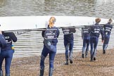 The Boat Race season 2016 -  The Cancer Research Women's Boat Race. River Thames between Putney Bridge and Mortlake, London SW15,  United Kingdom, on 27 March 2016 at 13:22, image #85