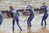 The Boat Race season 2016 -  The Cancer Research Women's Boat Race. River Thames between Putney Bridge and Mortlake, London SW15,  United Kingdom, on 27 March 2016 at 13:22, image #86